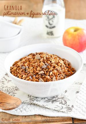 Granola au potimarron & figues séchées (recette sucrée)