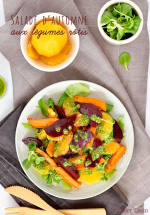 Salade de légumes rôtis & pesto de persil – Méthode de cuisson de la betterave au four