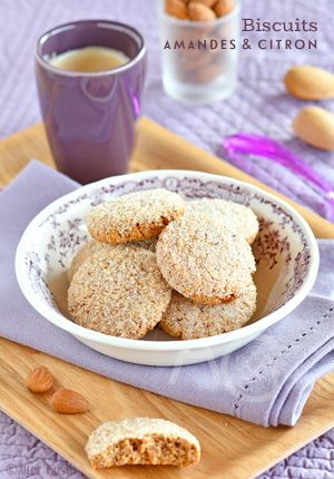 Biscuits aux amandes & zestes de citron