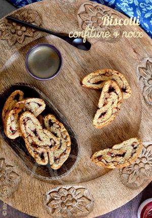 Biscotti à la confiture & noix