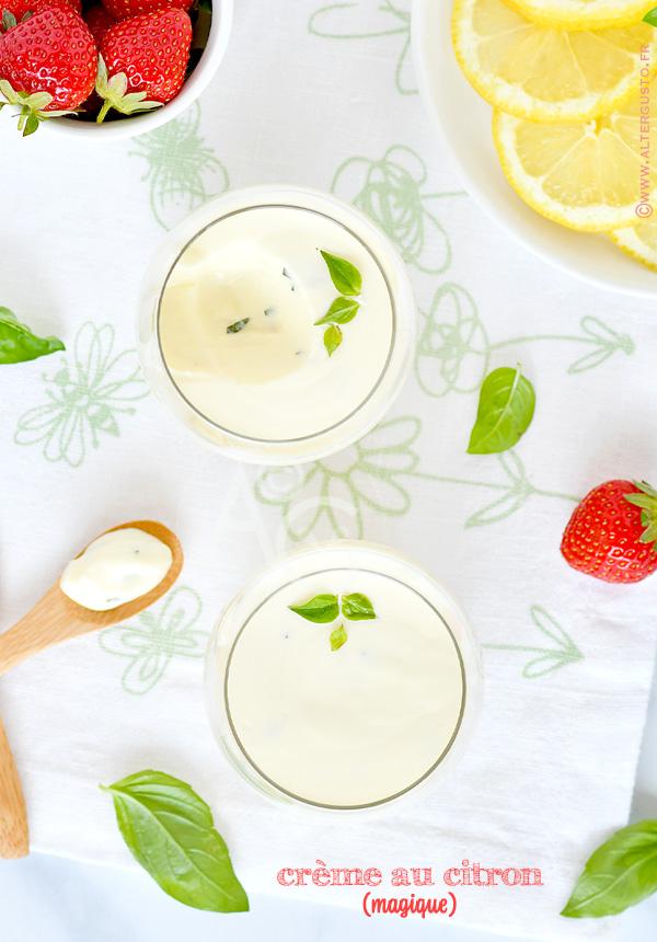 Petites crèmes au citron (sans cuisson)