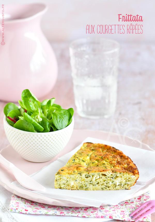 Frittata aux courgettes râpées (omelette au four)