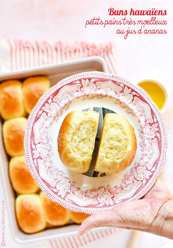 Buns hawaïens – Petits pains très moelleux au jus d'ananas